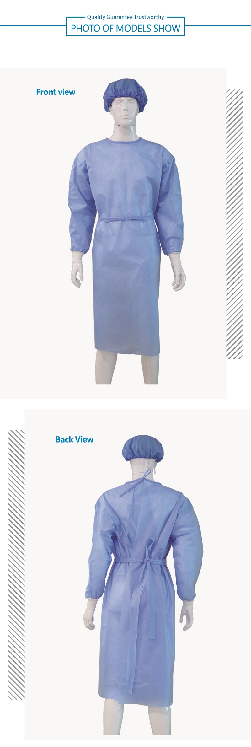 Disposable Reverse Wear Isolation Clothing(PP   PE )