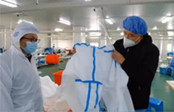 MedPurest worked overtime to make protective gown for  Novel Corona Virus Infection in wuhan