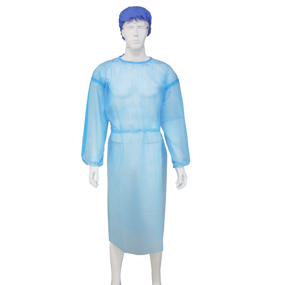 Disposable Isolation Clothes(PP+PE with adhesive tape)